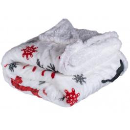 Homeville deka mikroplyš s beránkem 150x200 cm Jelen červený