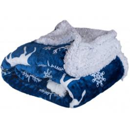 Homeville deka mikroplyš s beránkem 150x200 cm Jelen modrý
