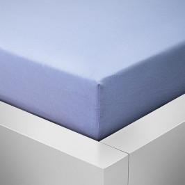 Homeville jersey prostěradlo ELASTIC sv. modrá - 100x220 cm