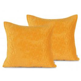 AmeliaHome Sametové povlaky na polštáře AmeliaHome Laila Honey - 2ks 45x45 cm