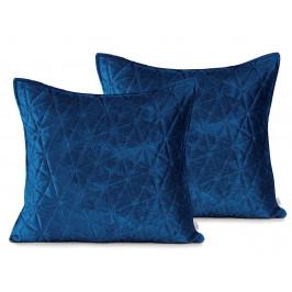 AmeliaHome Sametové povlaky na polštáře AmeliaHome Laila Royal Blue - 2ks 45x45 cm