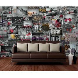 1Wall 1Wall Kreativní koláž 64 dílů 37,5 x 27,5cm Světová města