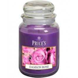 Maxi svíčka ve skle - Purpurová růže, hoření 150h