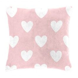 Mistral home Dětský polštářek beránek Mistral Home Amore pink srdíčka 40x40 cm