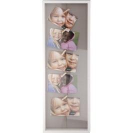 Rám na 5 fotek s dřevěnými kolíčky 72,5x24,5cm