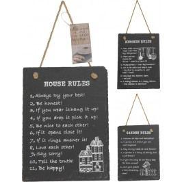 Domácí pravidla 15x20 cm - Kitchen rules