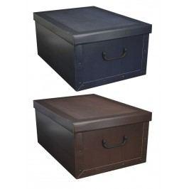 Úložné krabice klasik 51x37x24cm - Vínová