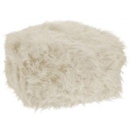 Taburet na sezení / puf bílá ivory 50x50x26 cm