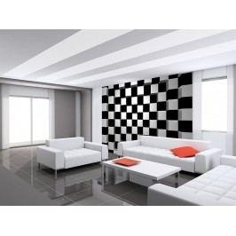 Wizard+Genius W+G vliesová fototapeta Černé a bílé čtverce 366x254 cm