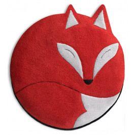 Leschi LESCHÍ Hřející polštářek liška Luca 25x25cm červená/černá