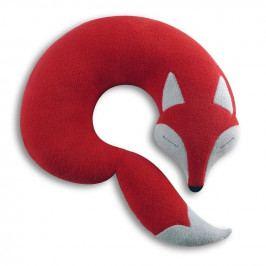 Leschi Cestovní polštářek lišák Peter 32x32cm červená/černá
