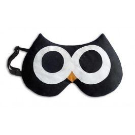 Leschi LESCHÍ Maska na spaní sova Stella 20x12cm černá/černá