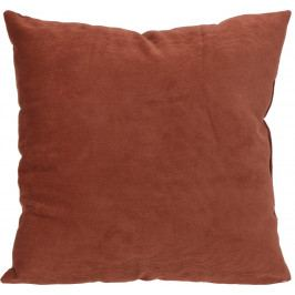 Home collection Dekorační polštářek manšestrový 45x45 cm terakota
