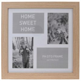 Home collection Rám na 4 fotky 37x37 cm sv. hnědá