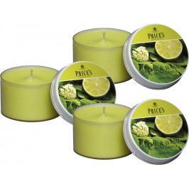Price´s SIGNATURE vonné svíčky v plechu Limetka&Bazalka 123g 3ks
