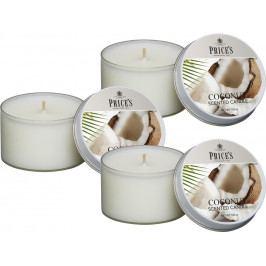 Price´s SIGNATURE vonné svíčky v plechu Exotický kokos 123g 3ks