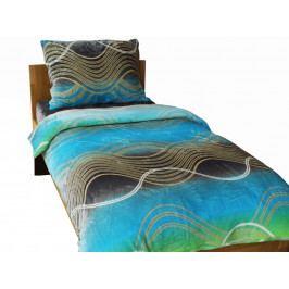 Homeville povlečení mikroplyš tyrkysové vlny 140x200/70x90 cm