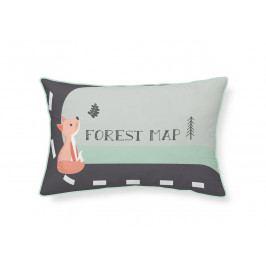 TODAY TODAY dětské polštářky Hello Fox - Forest Map 30x50 cm