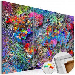 *Mapa - barevný vír (120x80 cm) - Murando DeLuxe