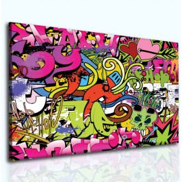Obraz dívčí graffitti (60x40 cm) - InSmile ®