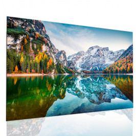 Obraz křišťálové jezero v horách (90x60 cm) - InSmile ®