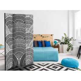 Paraván černobílá mozaika (135x172 cm) - Murando DeLuxe