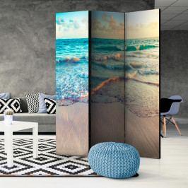 Paraván vlny na pláži (135x172 cm) - Murando DeLuxe