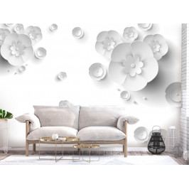 3D tapeta květy papírové (200x140 cm) - Murando DeLuxe