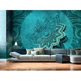 3D tapeta tyrkysový květ (150x105 cm) - Murando DeLuxe