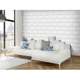 3D tapeta Bílá zeď (150x105 cm) - Murando DeLuxe