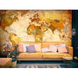 *Tapeta - Klasická mapa světa (300x210 cm) - Murando DeLuxe