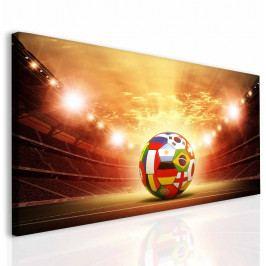 Dětský obraz fotbalový míč (150x80 cm) - InSmile ®