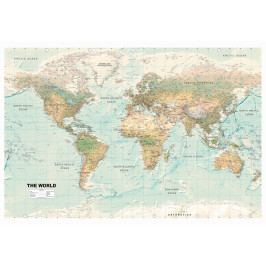 *Mapa na korkové tabuli - pěkný svět (120x80 cm) - Murando DeLuxe