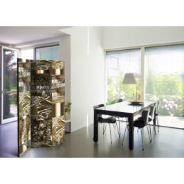 Paraván zlaté umění (135x172 cm) - Murando DeLuxe