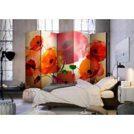 Paraván barevné máky II (225x172 cm) - Murando DeLuxe