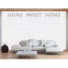 Tapeta sladký domov - bílá cihla (150x105 cm) - Murando DeLuxe