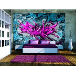 Tapeta anonymní graffiti (150x105 cm) - Murando DeLuxe