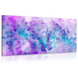 Obraz abstrakce fialová (150x75 cm) - InSmile ®