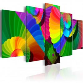 Murando DeLuxe Abstraktní obraz - barevné květy Velikost: 160x80 cm