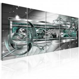 Murando DeLuxe Obrazy > Abstraktní obrazy - tyrkysový výbuch Velikost: 225x90 cm