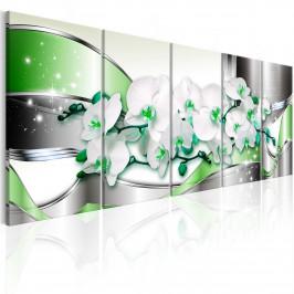 Murando DeLuxe Abstraktní obraz - zelená cesta Velikost: 225x90 cm