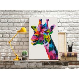 Murando DeLuxe Barevná žirafa Velikost: 40x60 cm