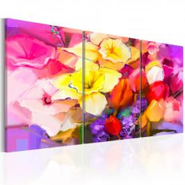 Murando DeLuxe Barevné květiny Velikost: 120x60 cm