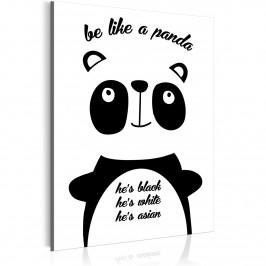 Murando DeLuxe Be like a panda Velikost: 30x40 cm