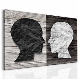 InSmile ® Černobílá mysl Velikost (šířka x výška): 50x30 cm