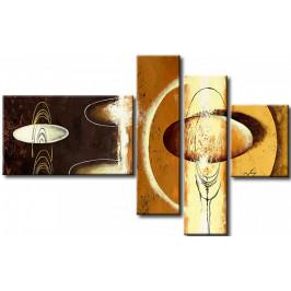 Murando DeLuxe Čtyřdílný obraz - divné planetky Velikost: 152x99 cm