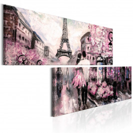Murando DeLuxe Dvoudílné obrazy - Paříž Velikost: 180x90 cm