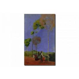 Murando DeLuxe Malovaný obraz - procházka Velikost: 60x100 cm