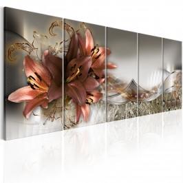 Murando DeLuxe Obraz - abstraktní lilie Velikost: 125x50 cm