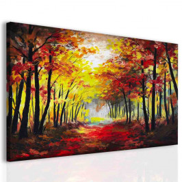 InSmile ® Obraz malba les na podzim Velikost: 120x80 cm